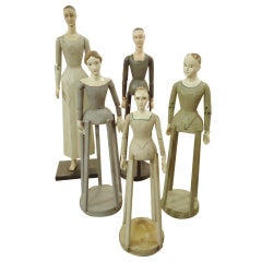 Collection of French Mannequin Sculptures