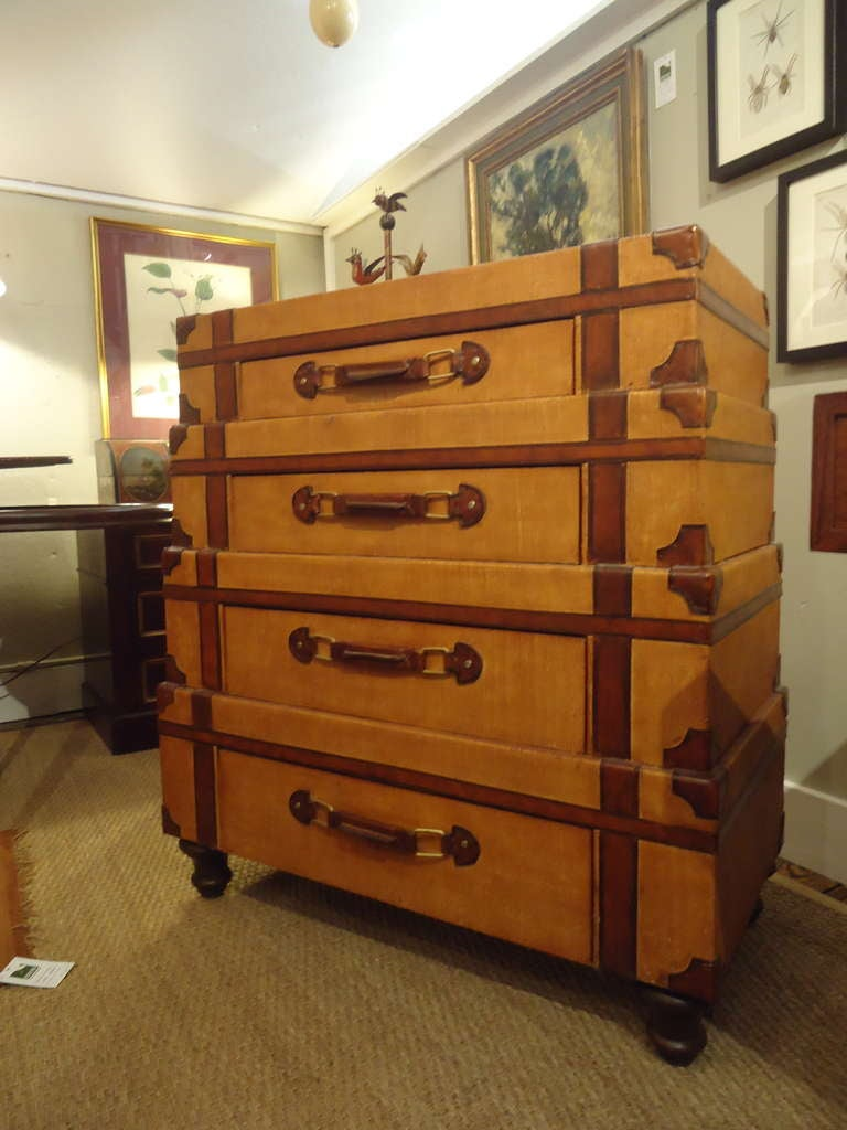 Suitcase With Drawers Stacked Suitcase Chest Of Drawers At 1stdibs
