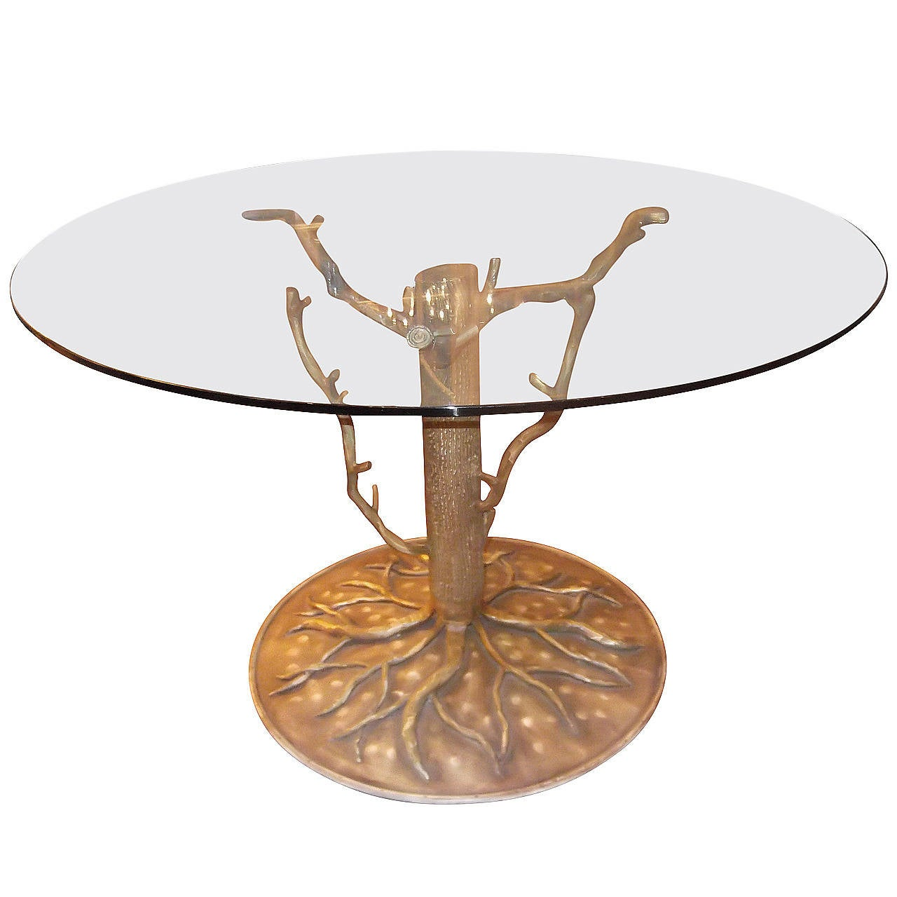 Michael taylor cyprus tree trunk dining table at 1stdibs - Striking Very Large Organic Tree Sculpture Table Base 1