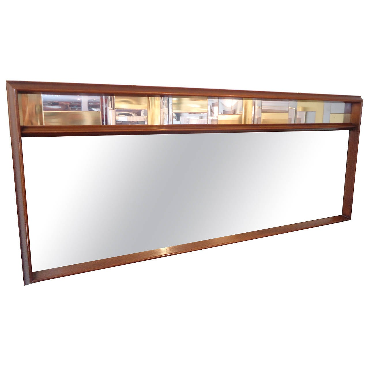 cool mid century modern long horizontal mirror at 1stdibs