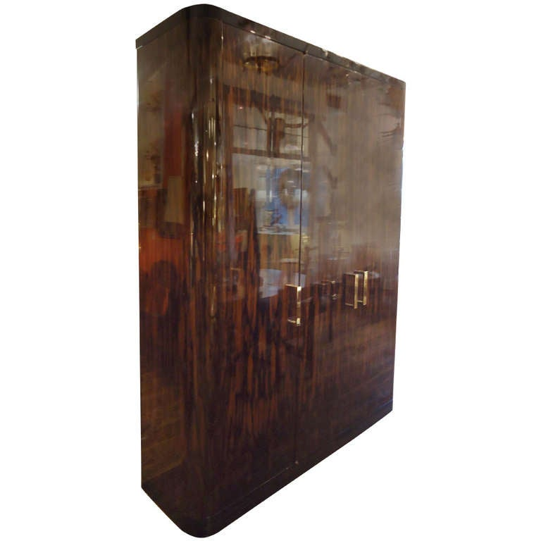 magnificent custom moderne armoire at 1stdibs. Black Bedroom Furniture Sets. Home Design Ideas