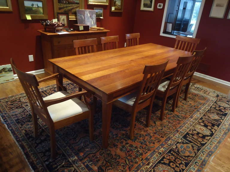 Artisan Dining Set Including Cherry Table And Eight Chairs At 1stdibs