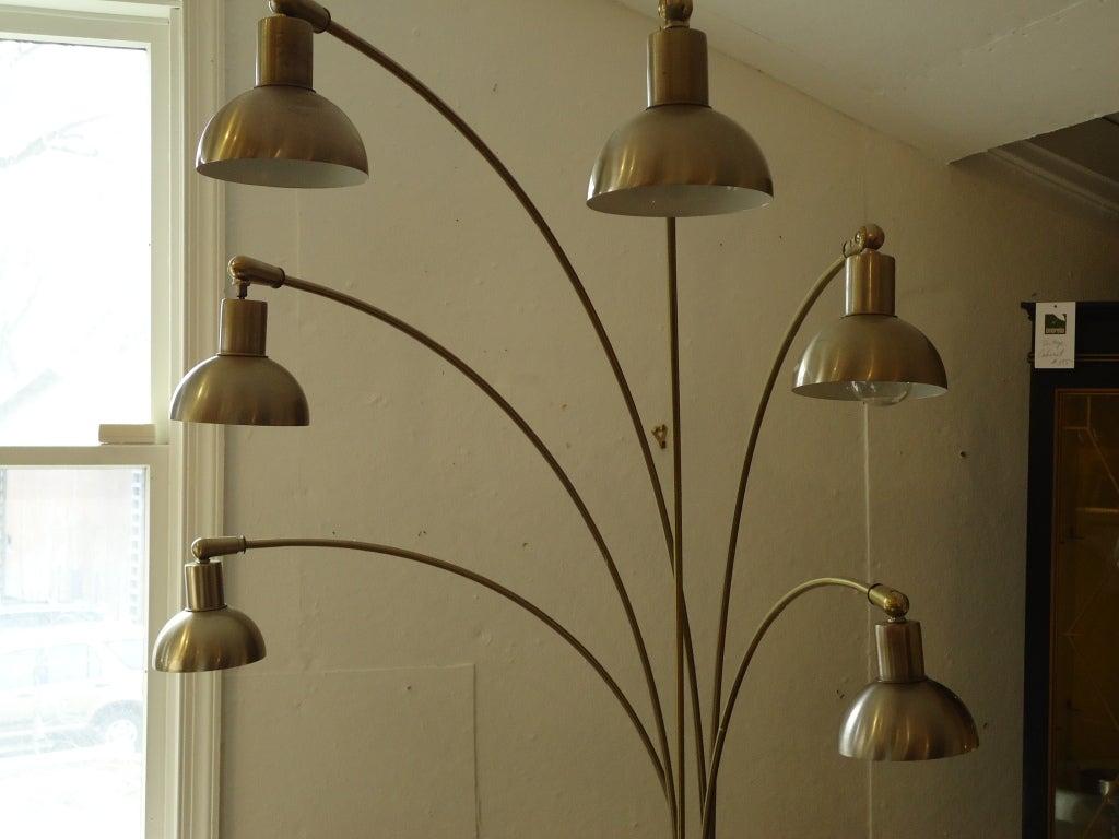 italian midcentury modern six arm arc floor lamp at 1stdibs. Black Bedroom Furniture Sets. Home Design Ideas