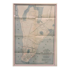 Framed Map of Old New York (Amsterdam in New Netherland)
