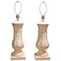 Pair of Large Porcelain Table Lamps