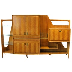 Stunning Mid-Century Italian Wall Unit Attributed to Dassi