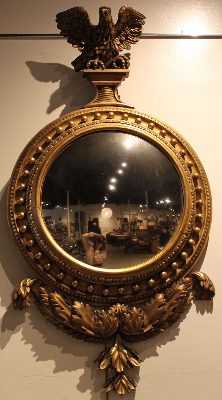 Period American Federal Convex Mirror At 1stdibs