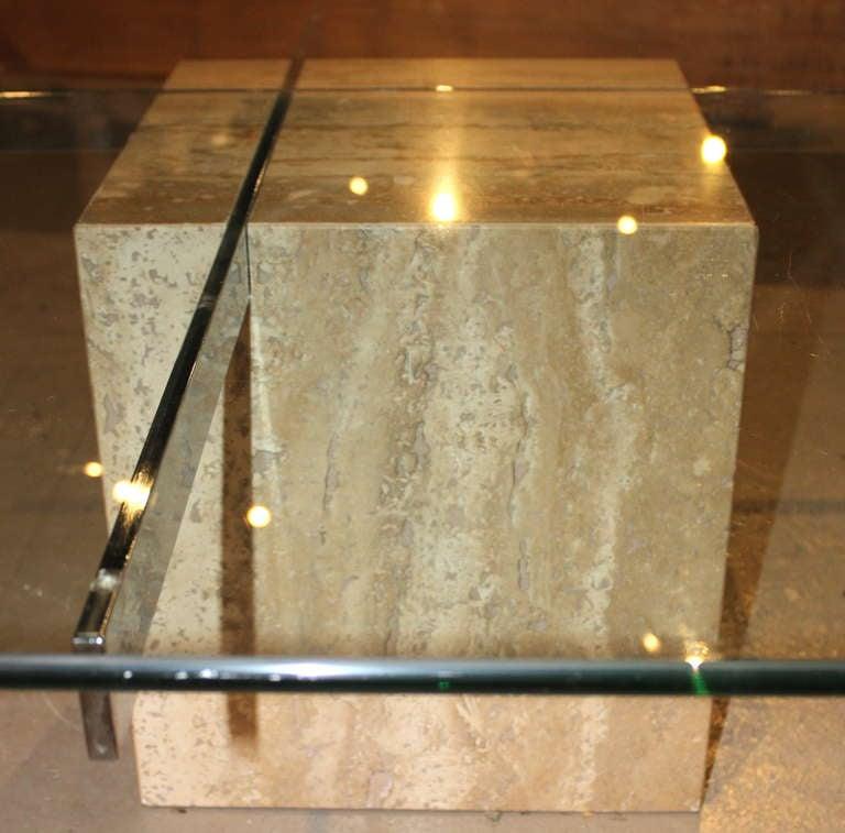 Artedi Italian Marble And Glass Coffee Table At 1stdibs