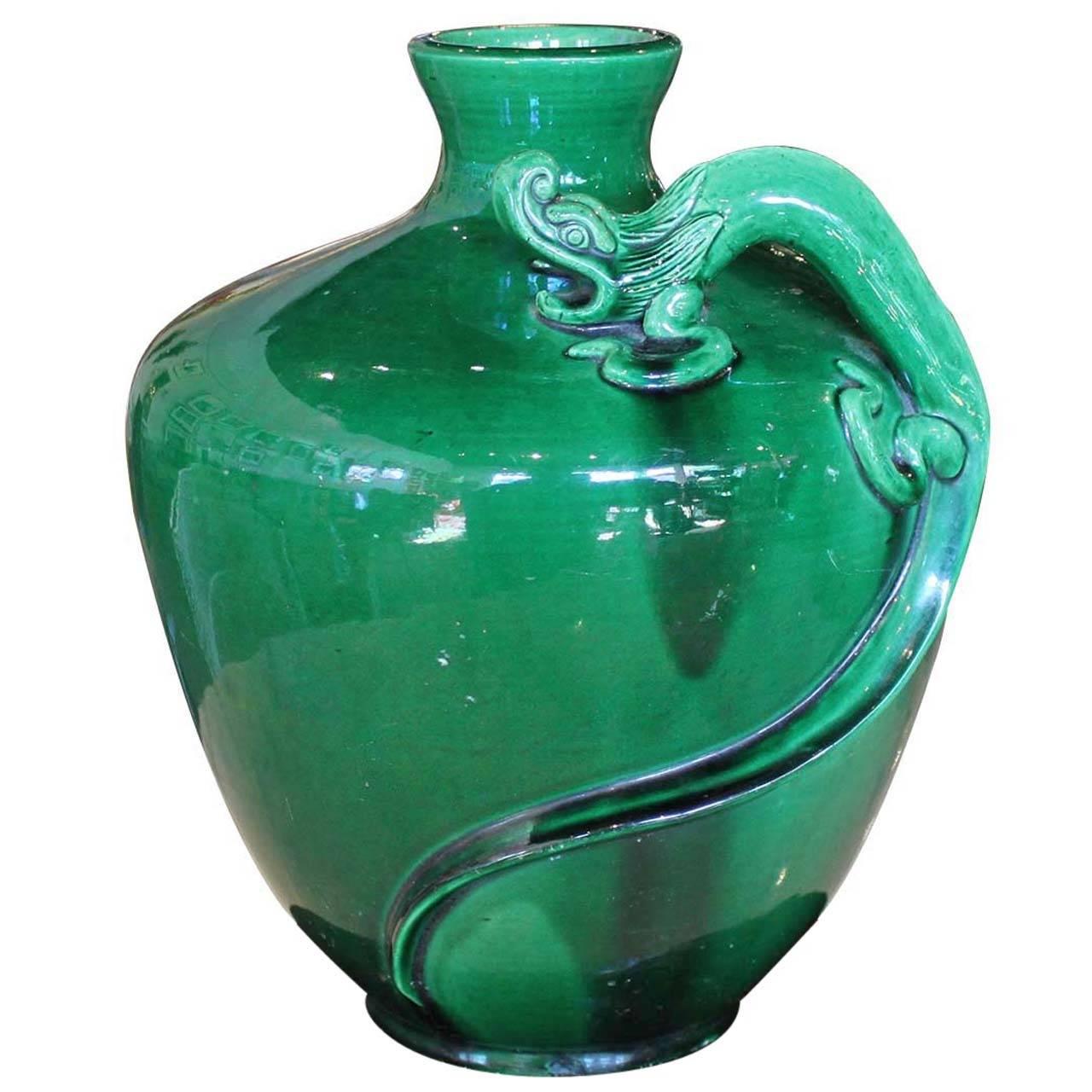 Awaji ceramic vase with dragon at 1stdibs awaji ceramic vase with dragon for sale reviewsmspy