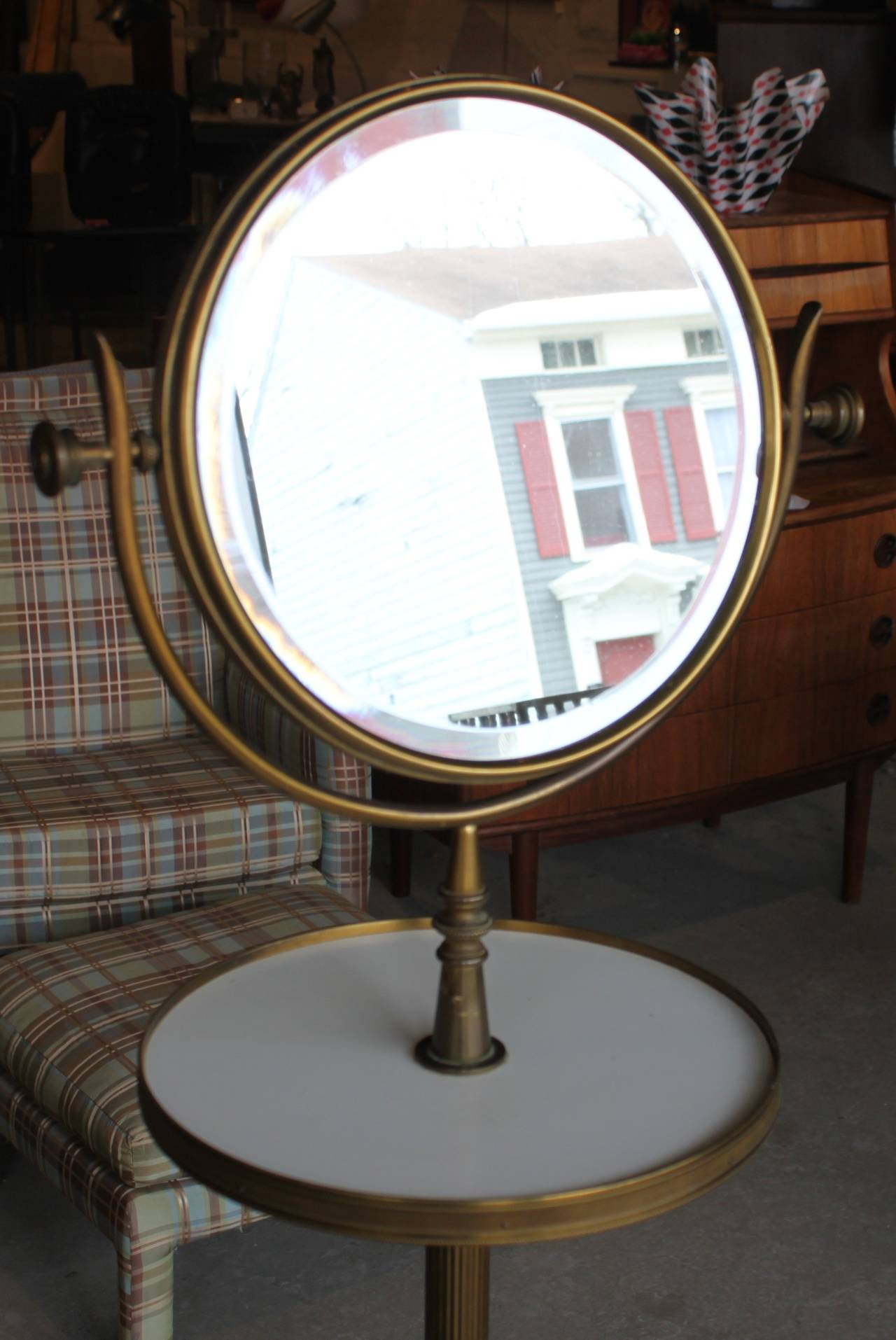 Brass Vanity Mirror Stand At 1stdibs