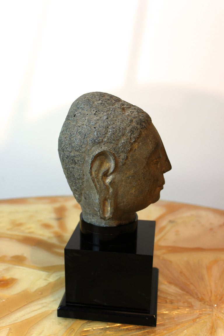Gandharan style carved stone head of buddha at stdibs