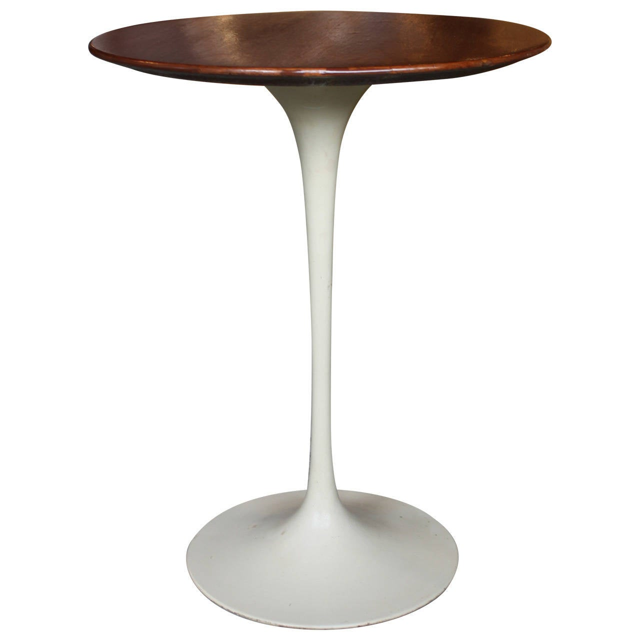 vintage knoll saarinen tulip walnut wood top side table at 1stdibs. Black Bedroom Furniture Sets. Home Design Ideas