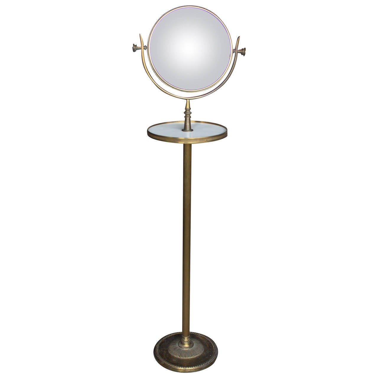 Brass vanity mirror stand for sale at 1stdibs for Mirror stand