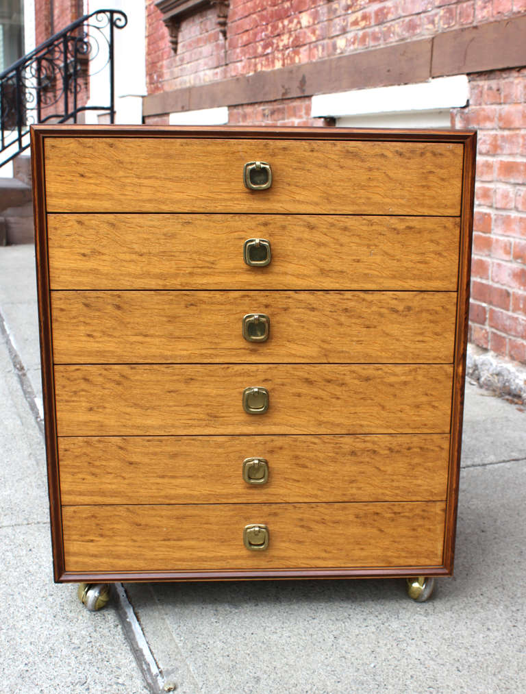 Ed Wormley Six Drawer Chest for Dunbar In Excellent Condition For Sale In Hudson, NY