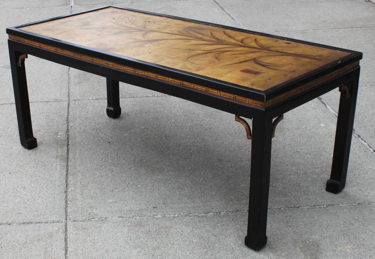 Vintage Chinoiserie Gilt Top Coffee Table At 1stdibs