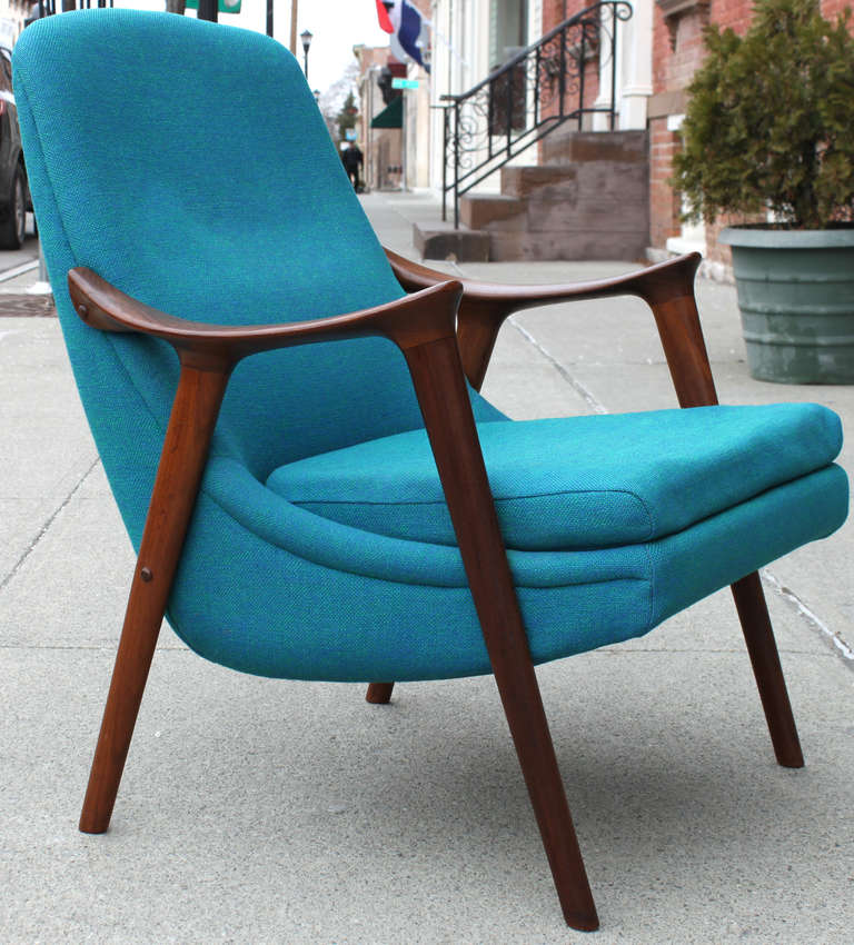 Danish Walnut Scoop Armchair 2