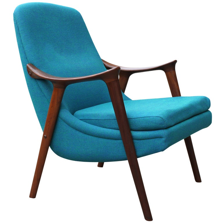 Danish Walnut Scoop Armchair 1