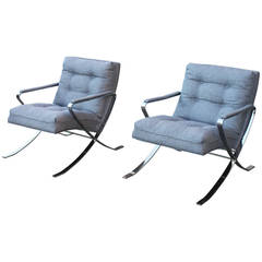 Vintage Chrome Lounge Chairs
