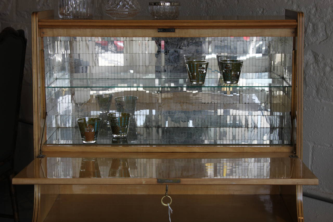 Mid Century Modern Italian Bar Cabinet For Sale At 1stdibs