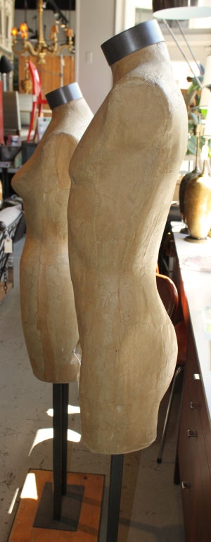 Male Papier Mache Mannequin Torso On Stand At 1stdibs
