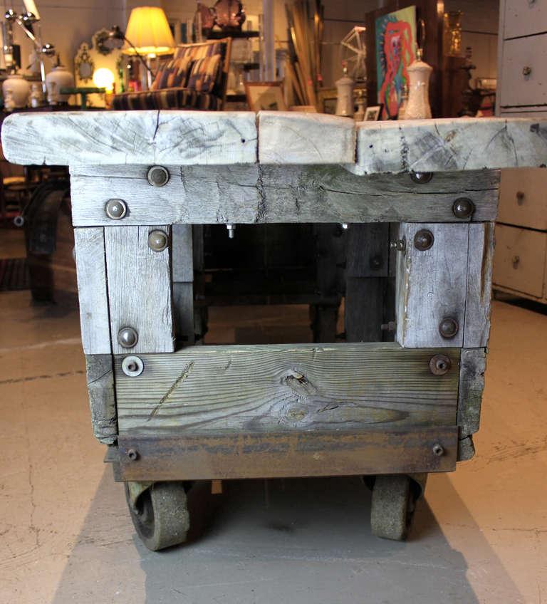 Rustic Factory Cart At 1stdibs