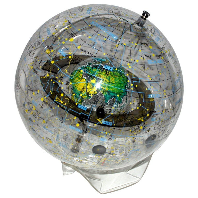 Light Globe And Magnifying Glass