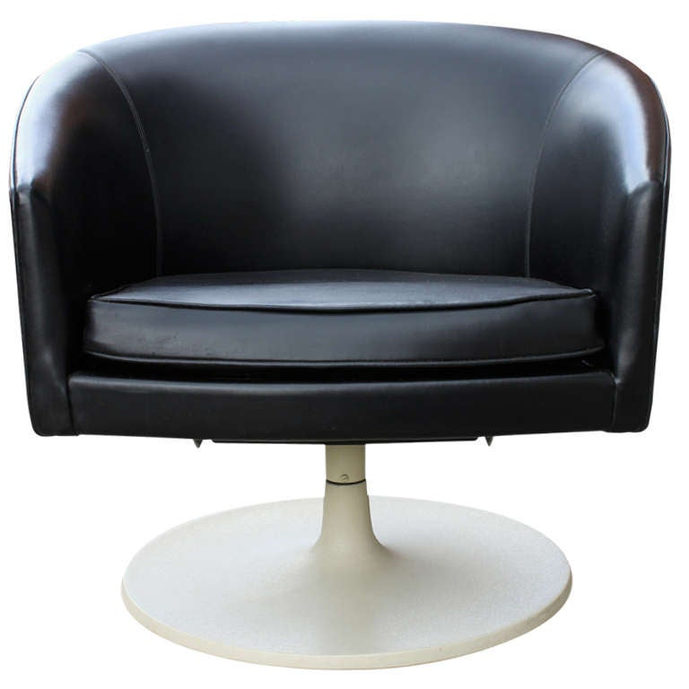 Rare Jens Risom Swivel Chair