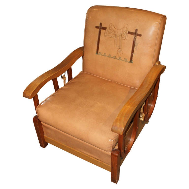 Awesome vintage cowboy chair for sale at 1stdibs for Awesome classic chairs