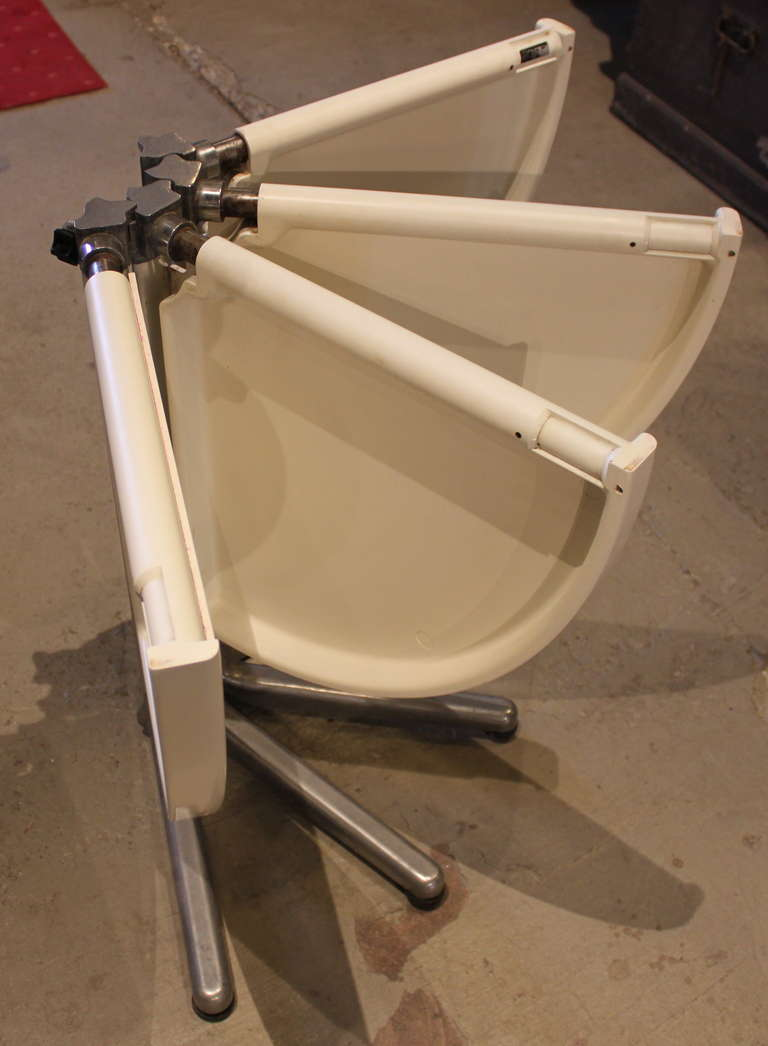 Round Piano Folding Table By Castelli At 1stdibs