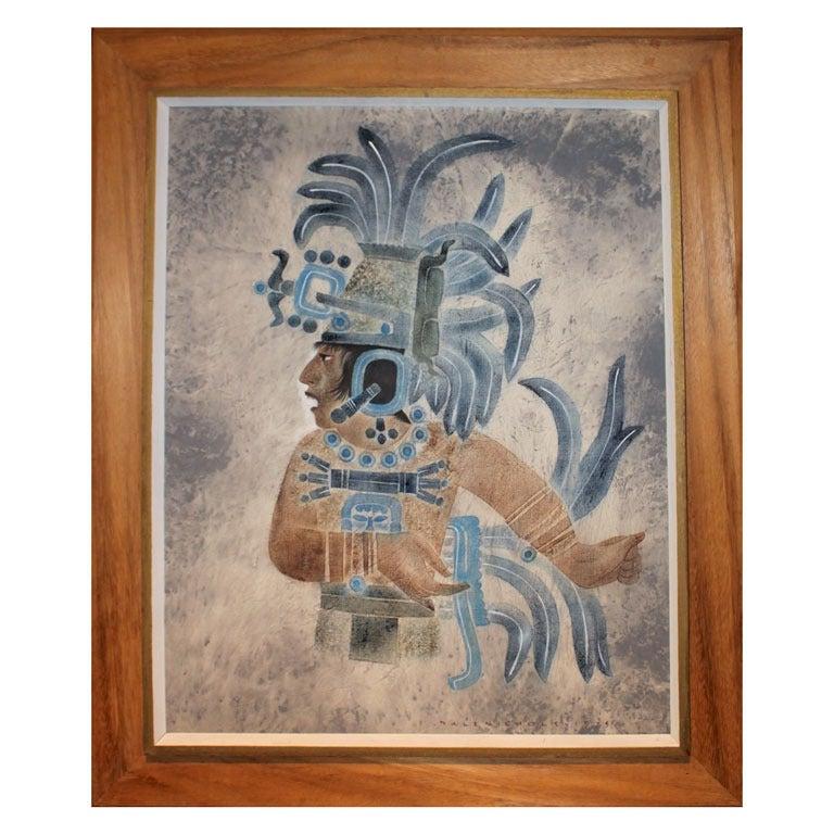 'Naranjo Priest Maya' Painting by Dale Nichols