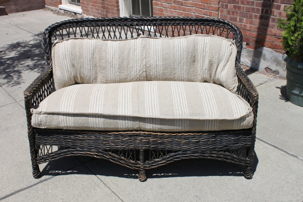 vintage wicker sofa at 1stdibs. Black Bedroom Furniture Sets. Home Design Ideas