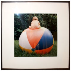 'Baby on Beach Ball' by Suzanne Camp Crosby