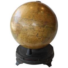 Antique Fitz Globe on Iron Base