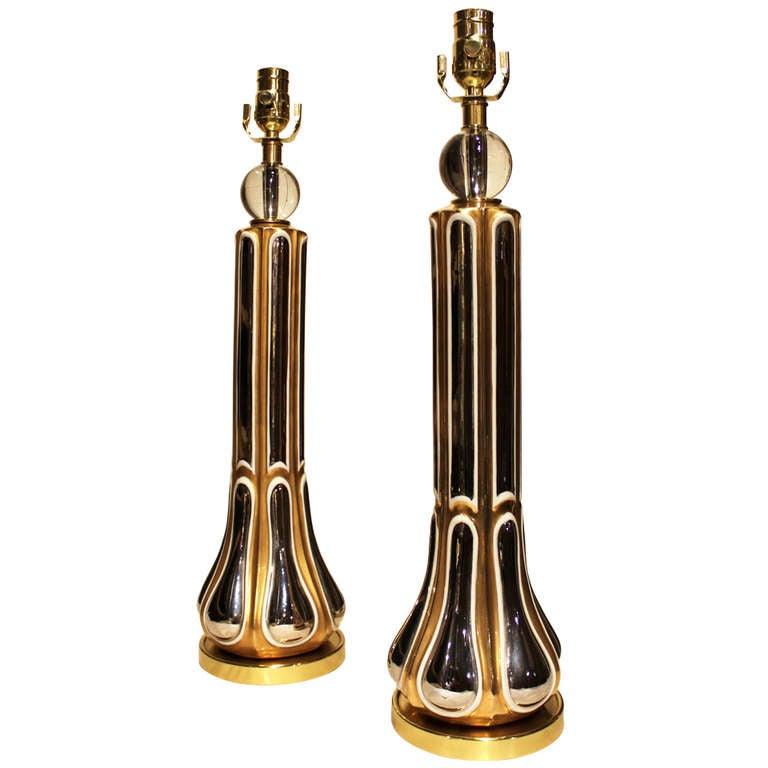 Pair of Luster Regency Style Table Lamps