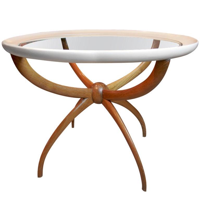 Italian Walnut Spider Table At 1stdibs