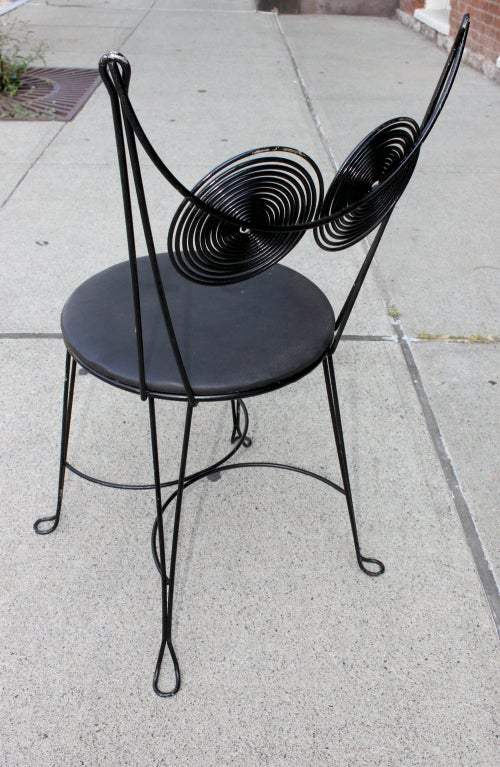 Tony Paul Spiral Back Cafe Chairs At 1stdibs