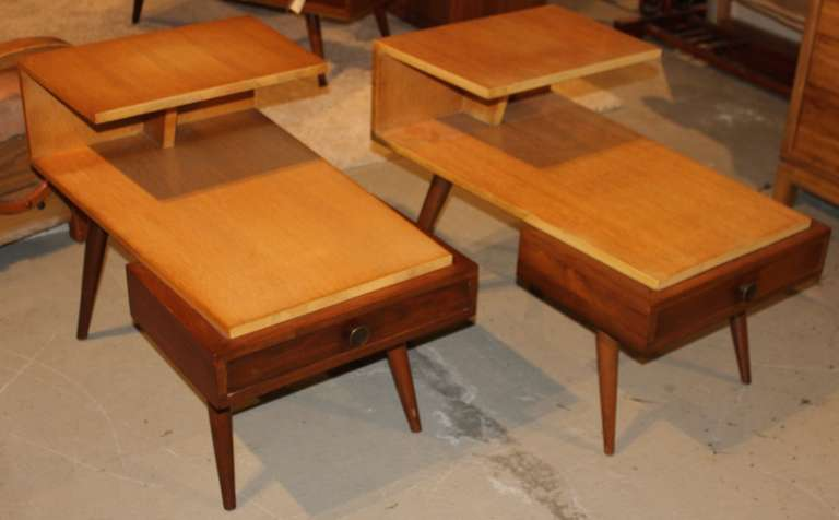 Pair Of MidCentury Modern Jetson Style End Side Tables At Stdibs - Midcentury modern side table