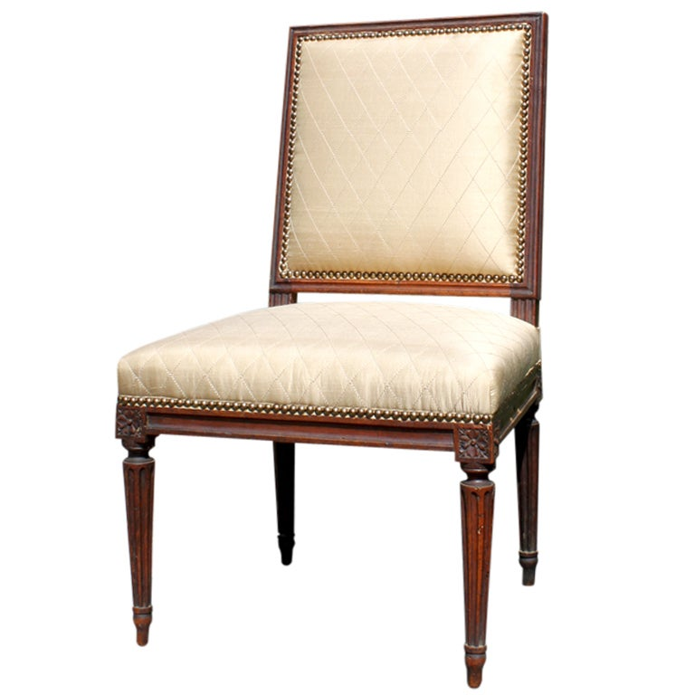 Louis XVI Side Chair For Sale at 1stdibs