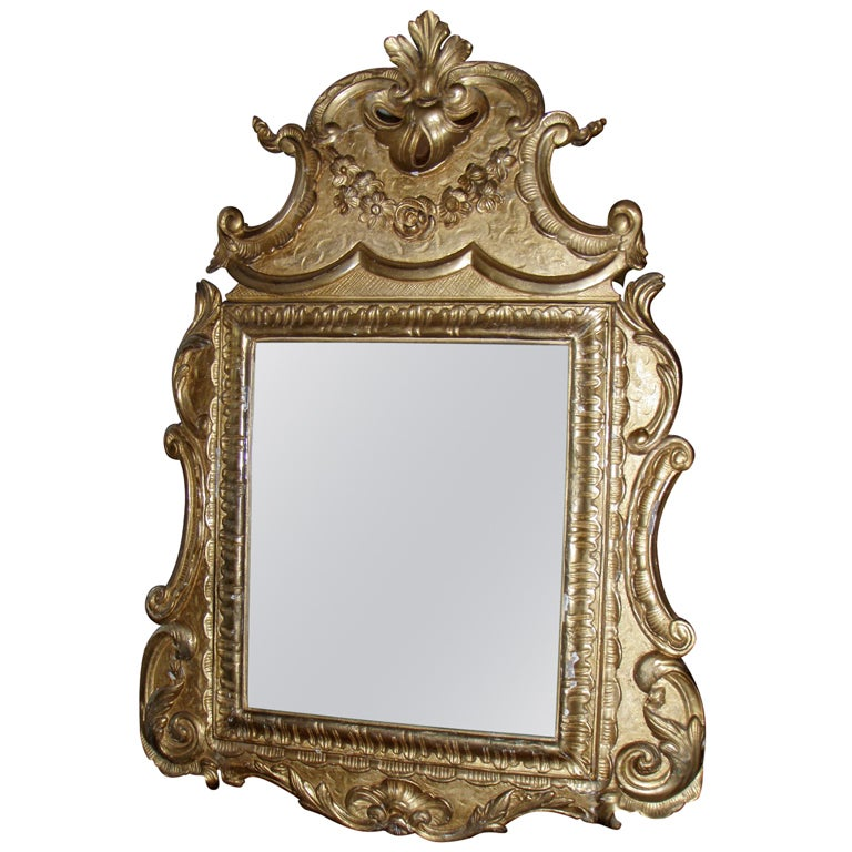 Italian baroque style mirror at 1stdibs for Baroque style wall mirror