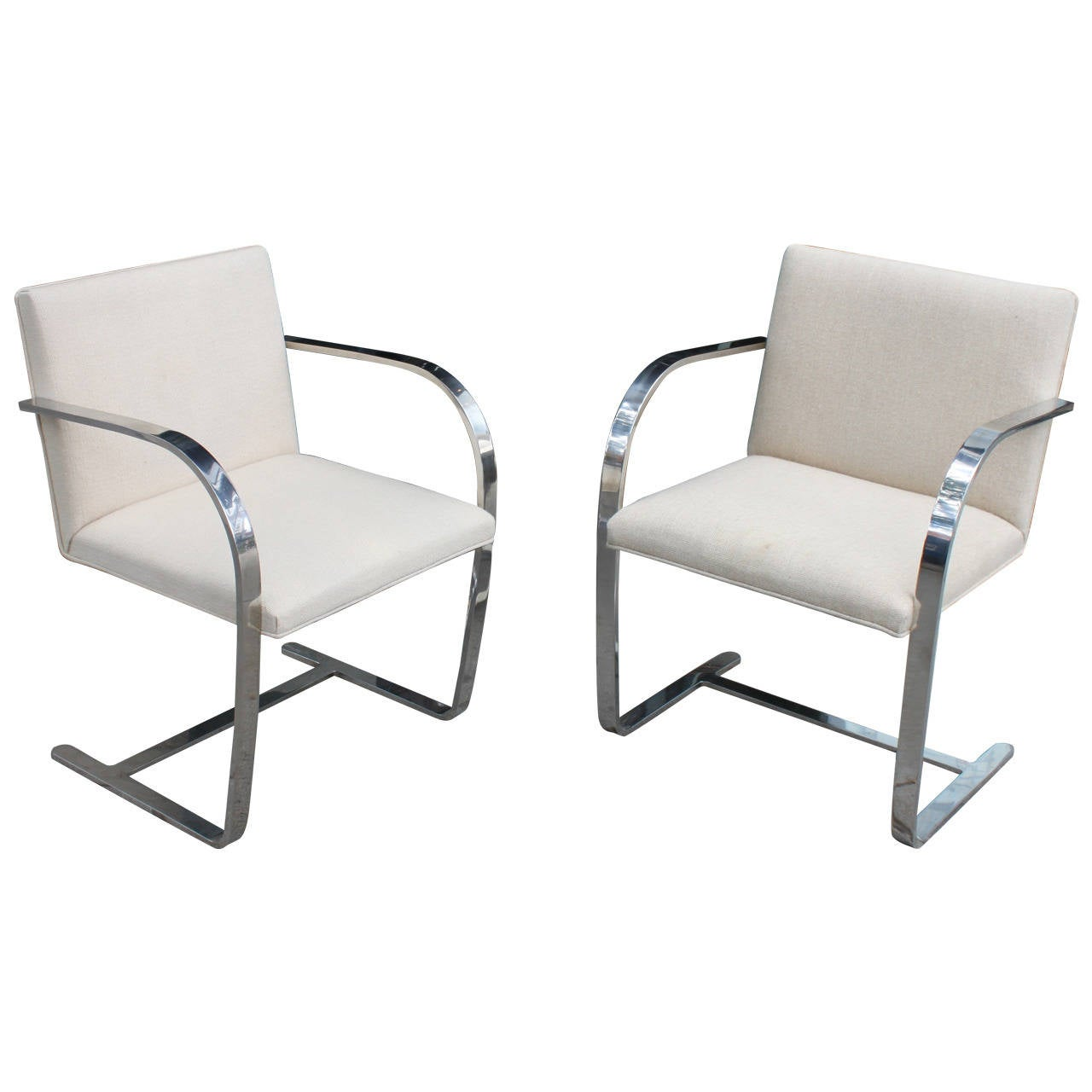 pair mies van der rohe brno chairs for knoll for sale at 1stdibs. Black Bedroom Furniture Sets. Home Design Ideas