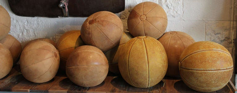 A nice collection of 1940 era European exercise balls. Ranging in size from 10