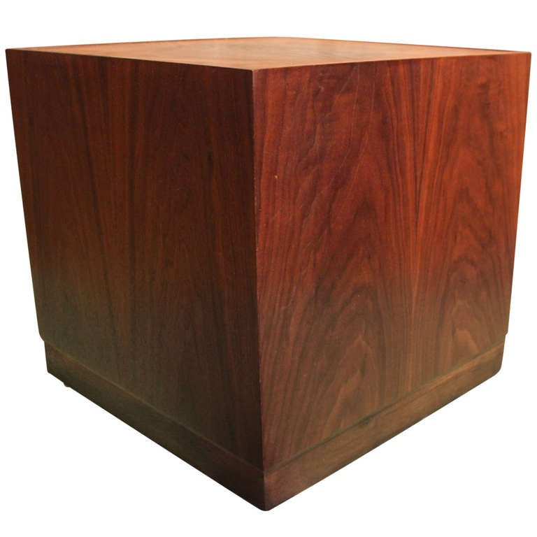 Walnut Cube Table by Milo Baughman at 1stdibs