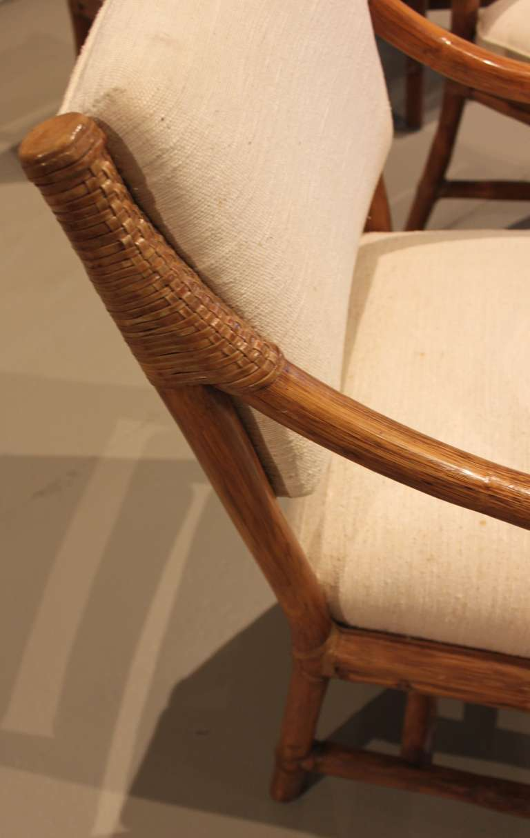 Mcguire Bamboo Dining Chairs At 1stdibs