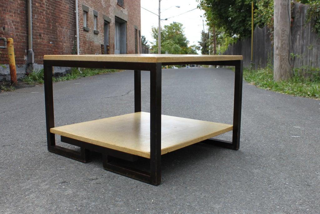 Paul Frankl 2-tier cork table.
