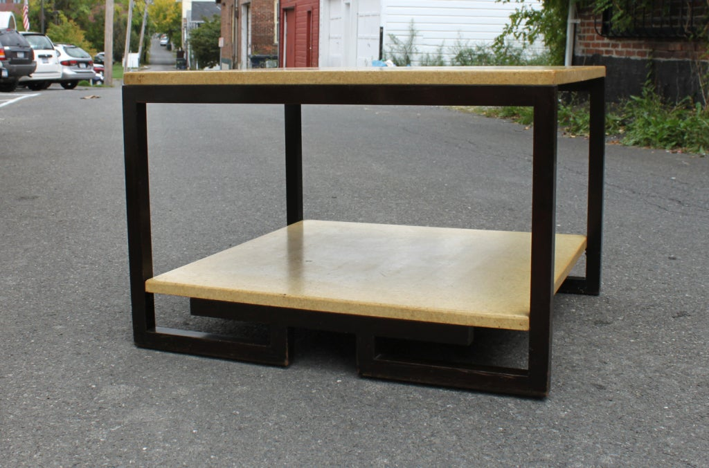 Mid-Century Modern Paul Frankl Two-Tier Cork Table For Sale
