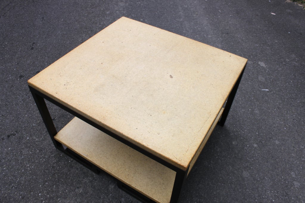American Paul Frankl Two-Tier Cork Table For Sale