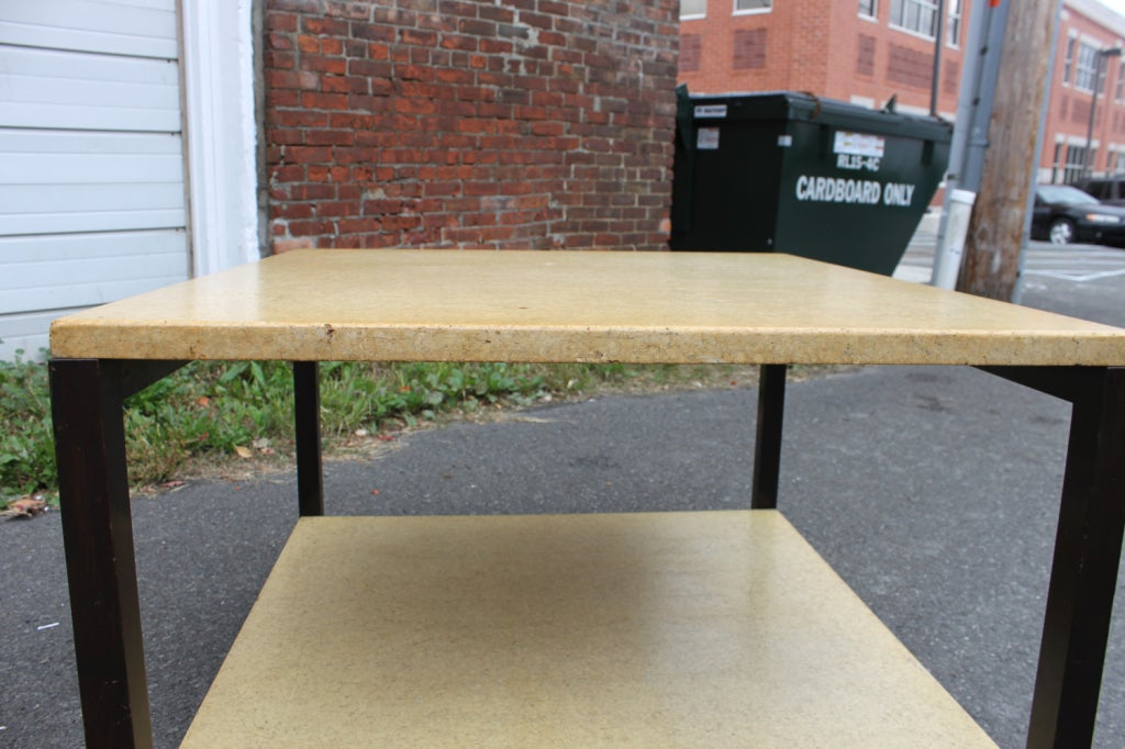 Paul Frankl Two-Tier Cork Table For Sale 1