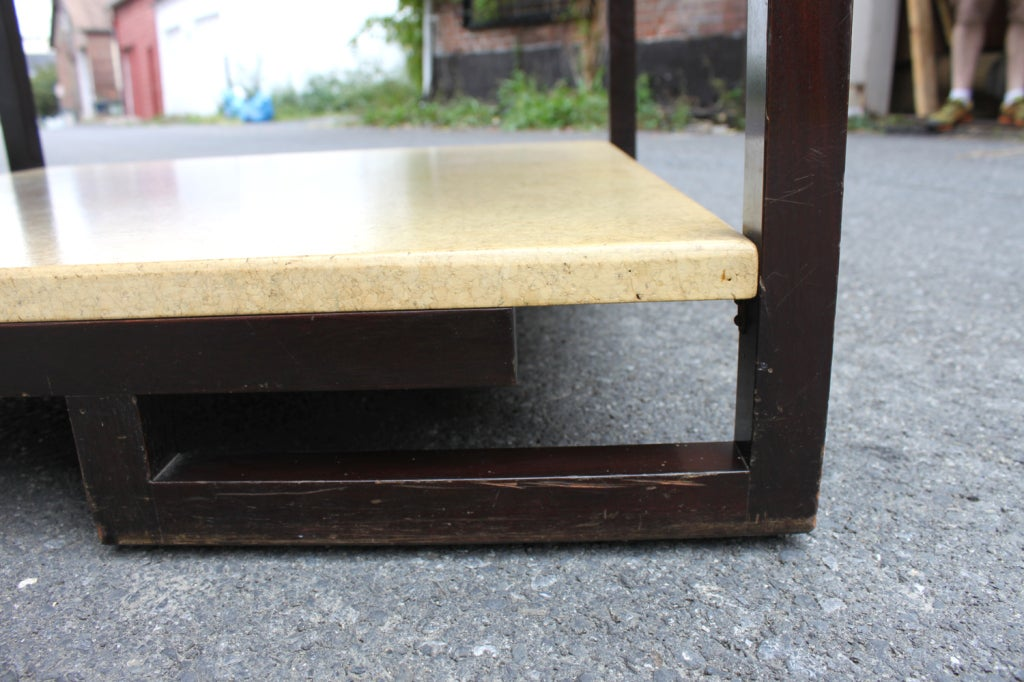 Paul Frankl Two-Tier Cork Table For Sale 2