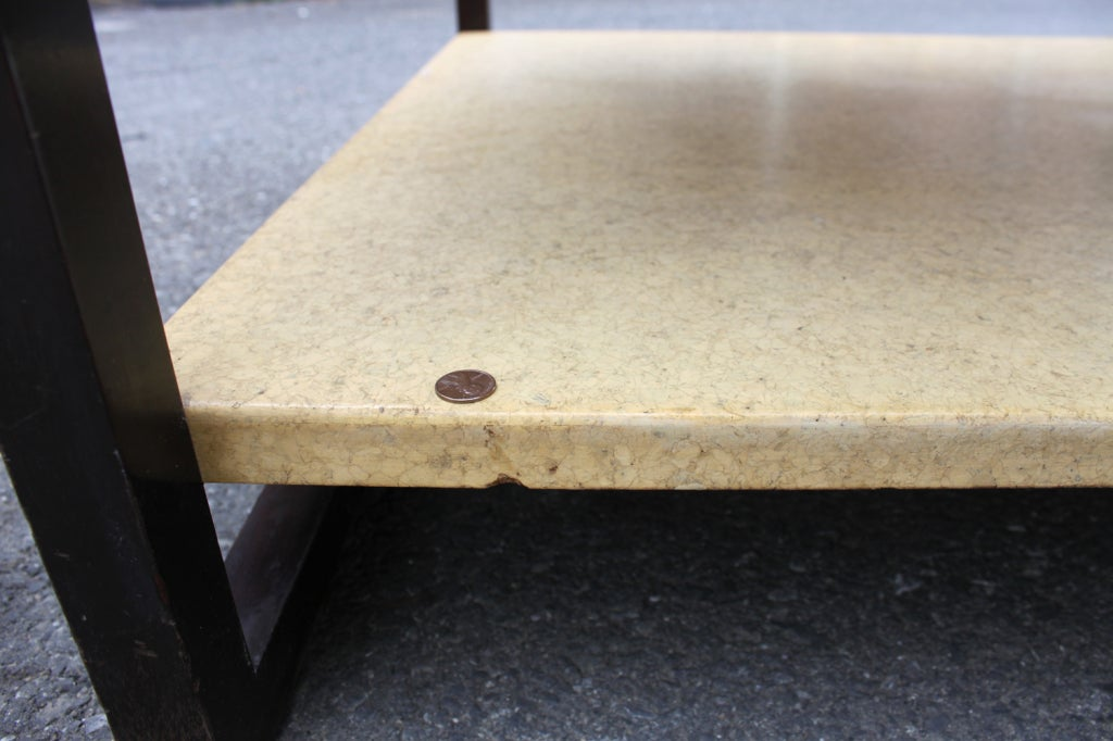 Paul Frankl Two-Tier Cork Table For Sale 3
