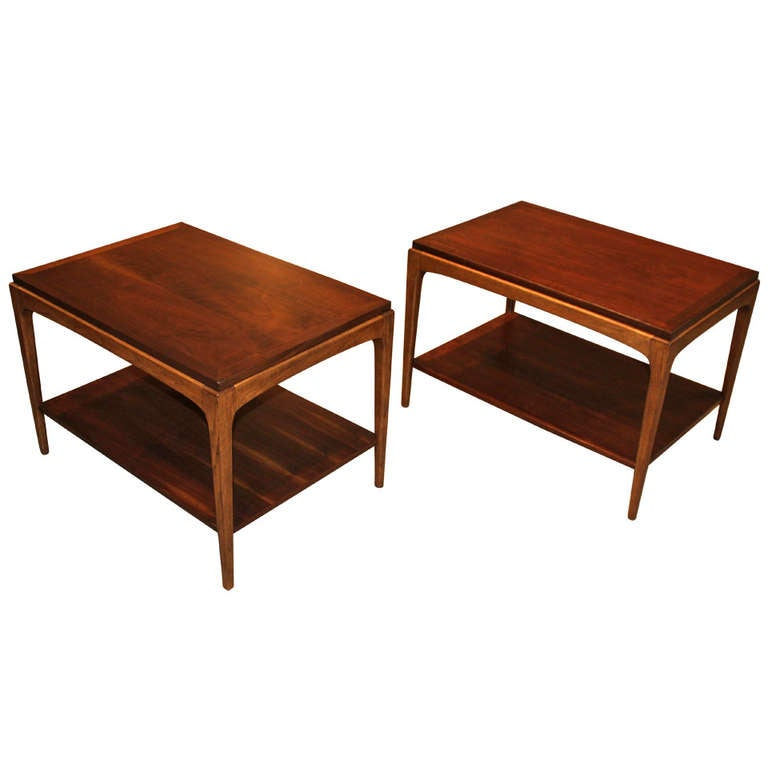 1950s Mid Century End Table By Lane Furniture: Mid-Century Modern Pair Of Lane End Tables At 1stdibs